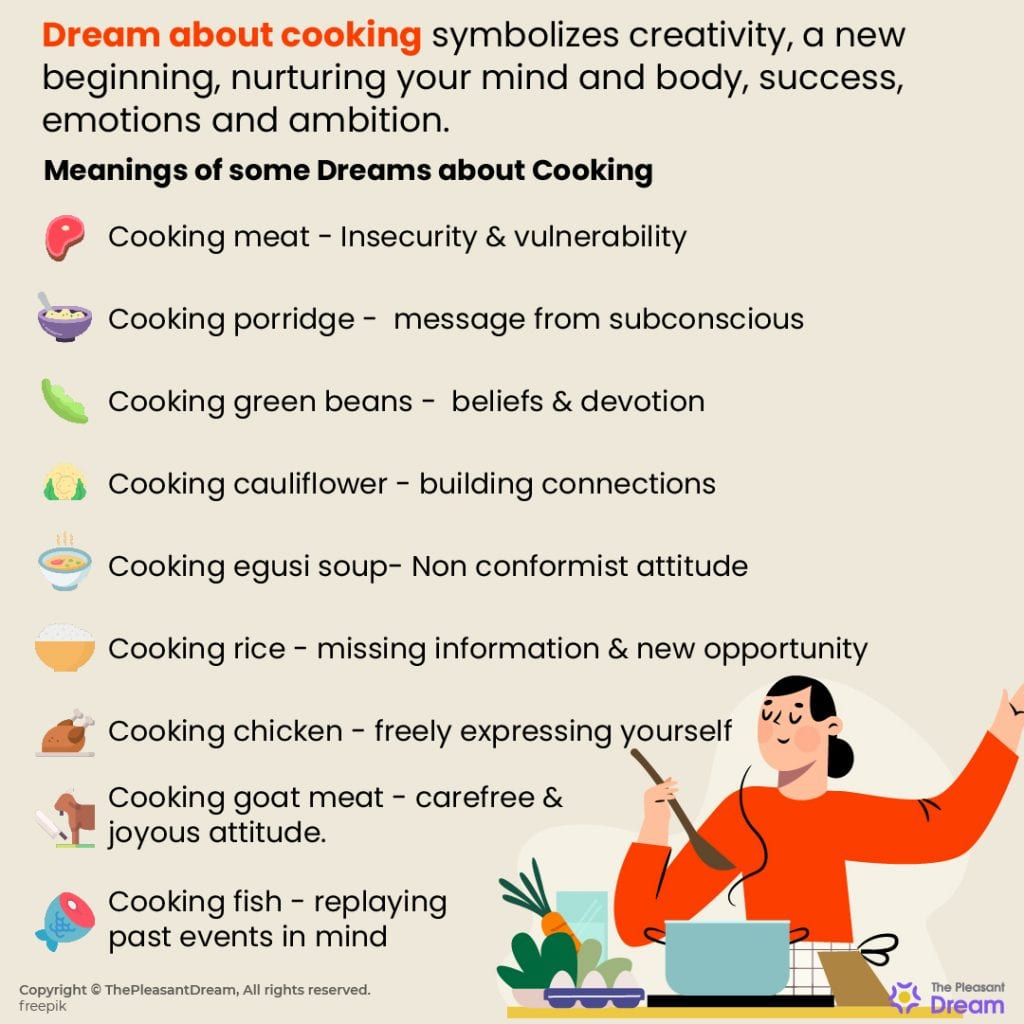 Dream of Cooking - 170+ Dream Scenarios & Their Meanings