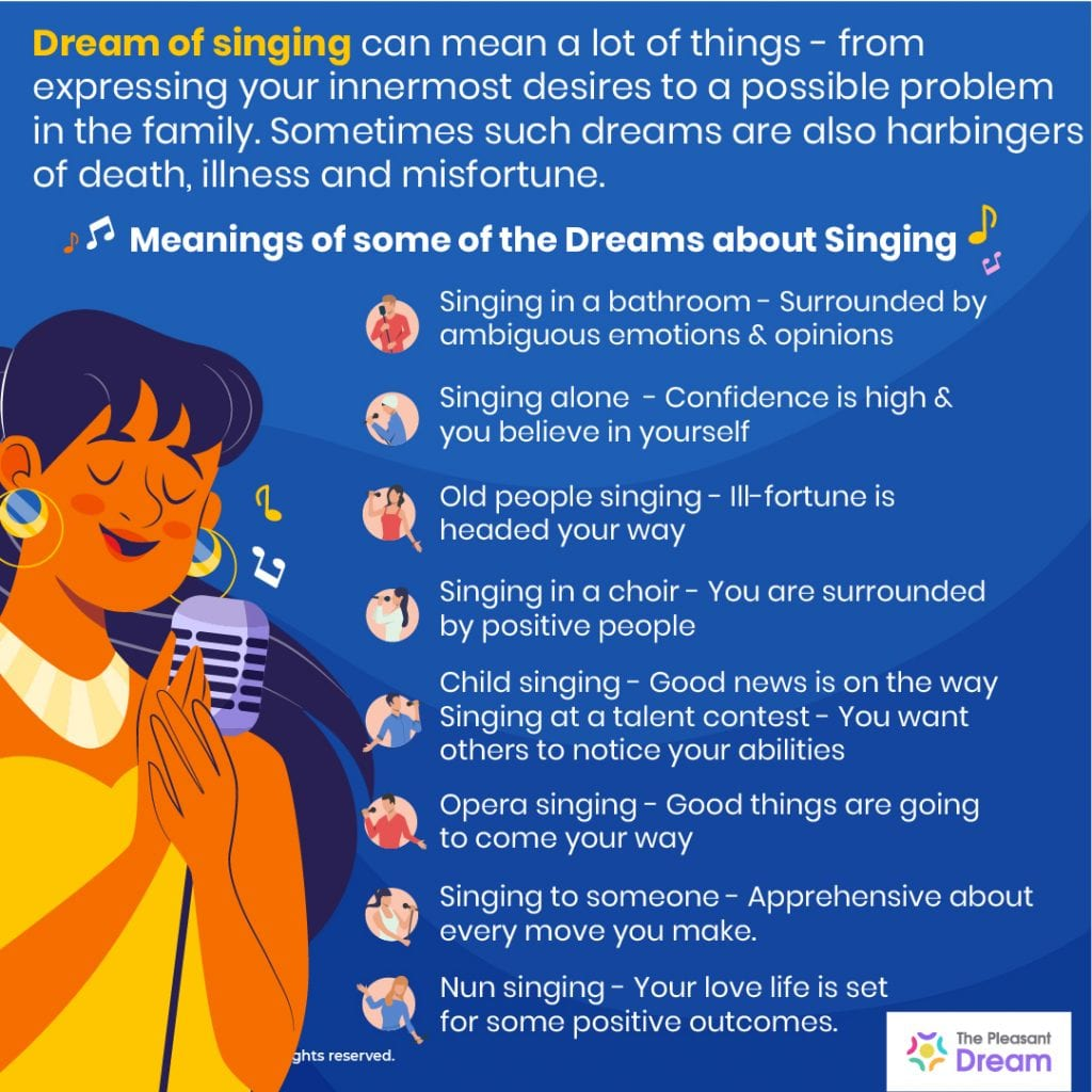 Dream of Singing 71 Types of Dreams & their Meanings