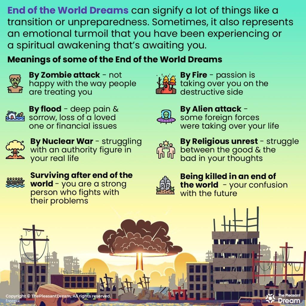 End of the World Dreams - 15 Scenarios & Their Interpretation