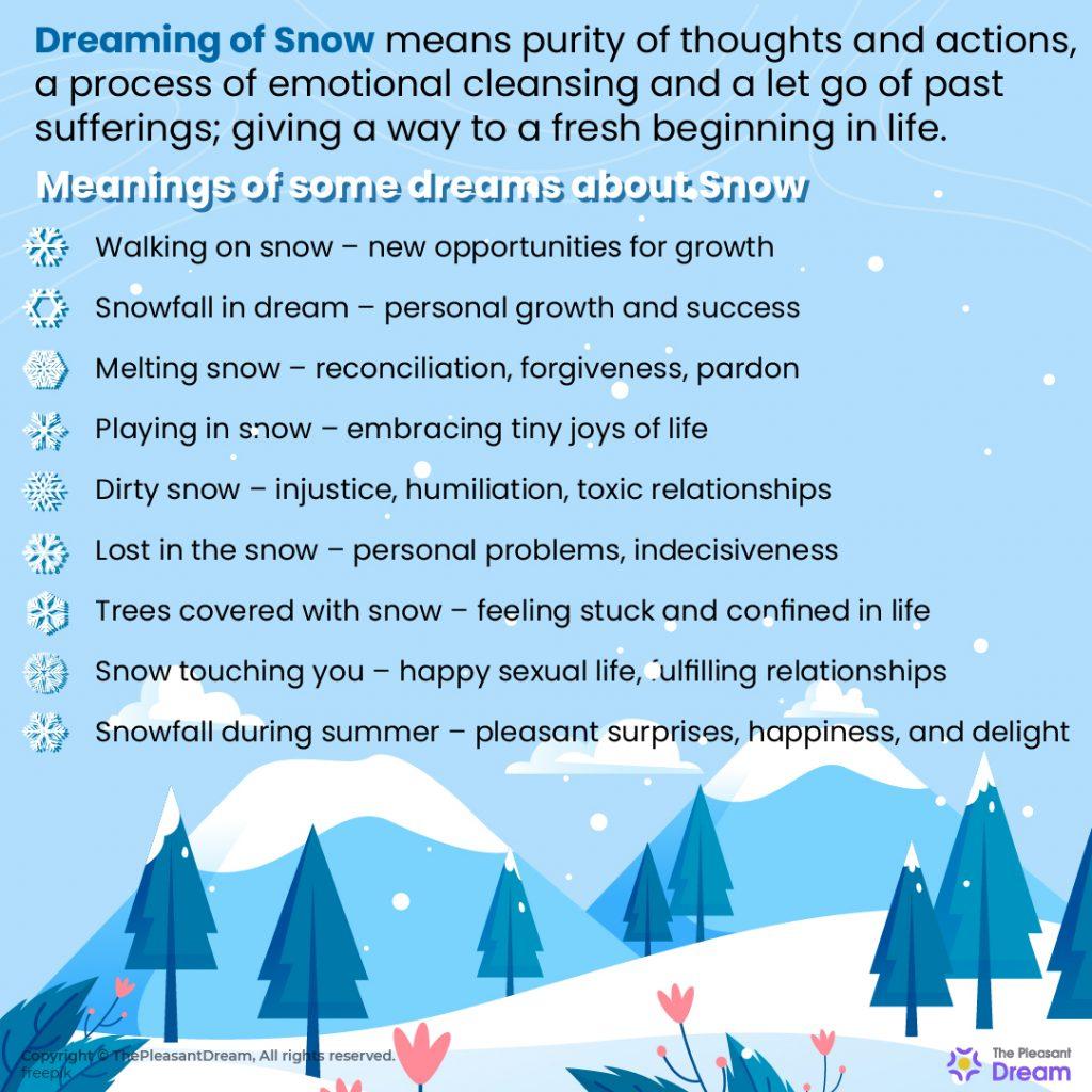 Dreaming of Snow - 55 Dream Scenarios Explained