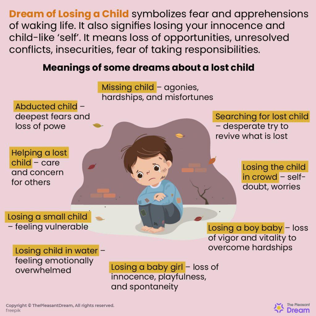 Dreams of Losing a Child – 25 Dream Scenarios & Their Meanings