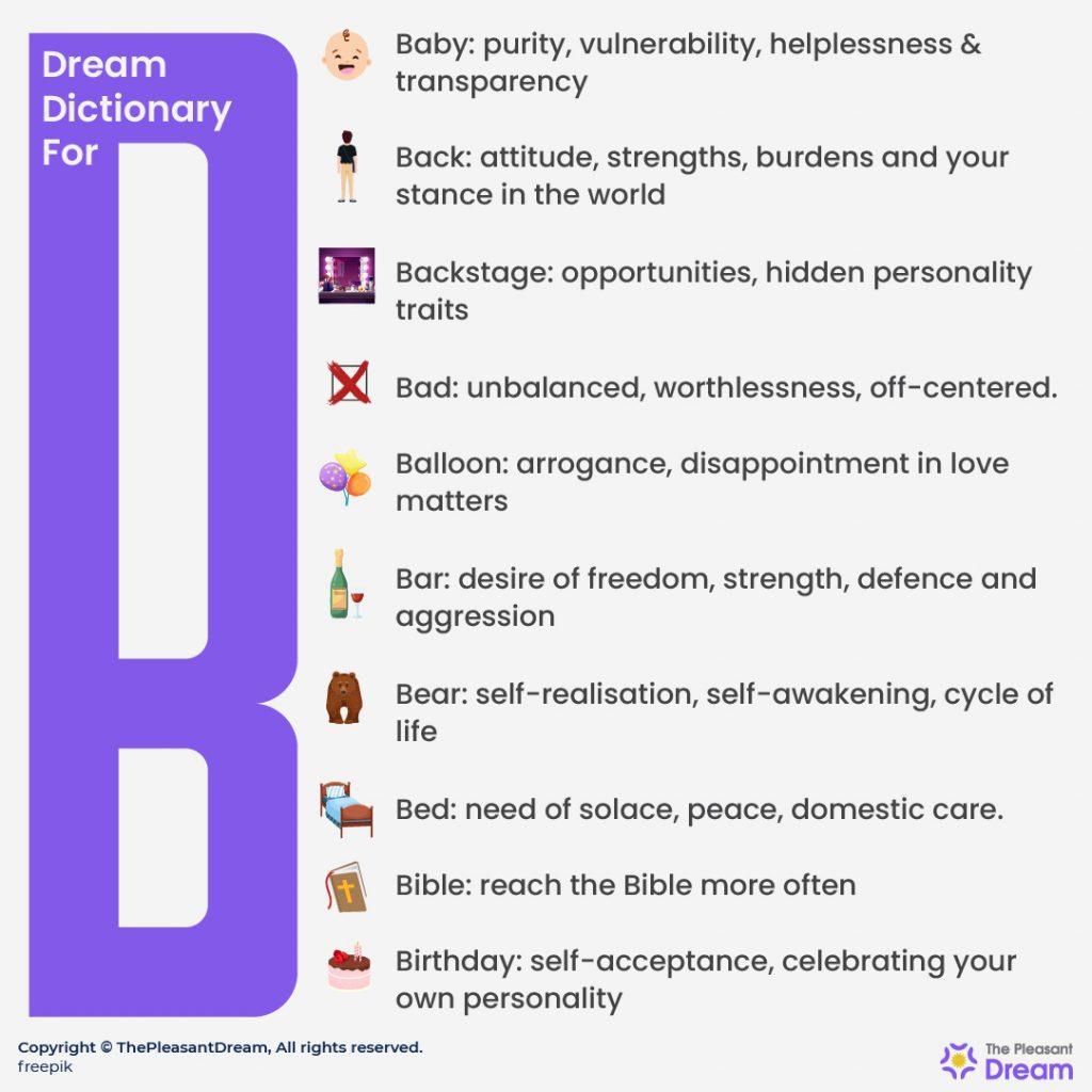 Dream Dictionary for B