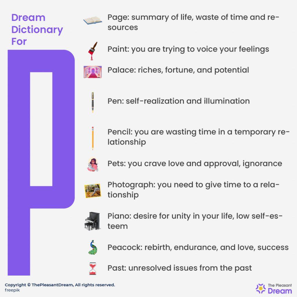"""Dream Dictionary for """"P"""""""