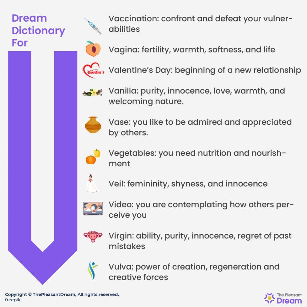 """Dream Dictionary for """"V"""""""