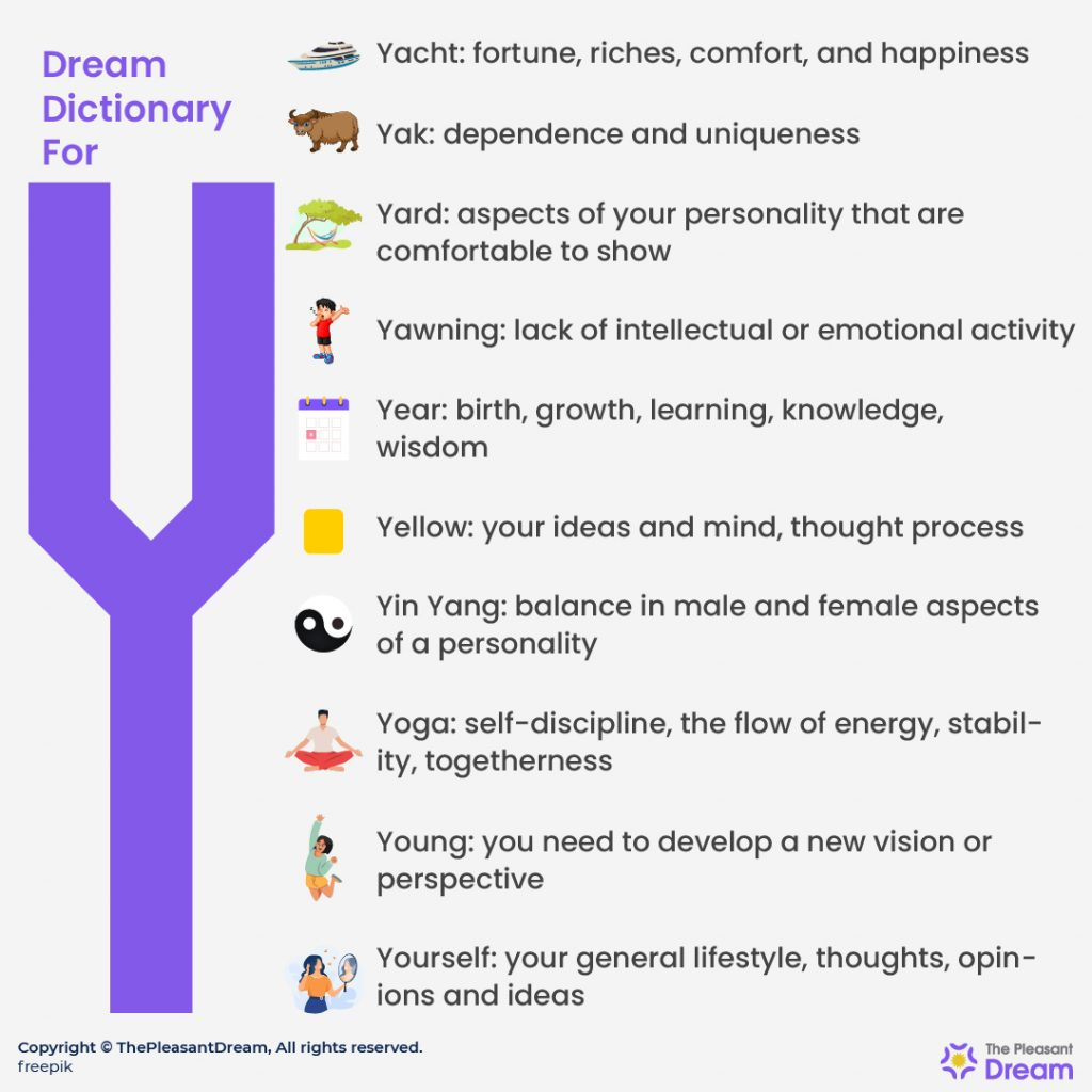 """Dream Dictionary for """"Y"""""""